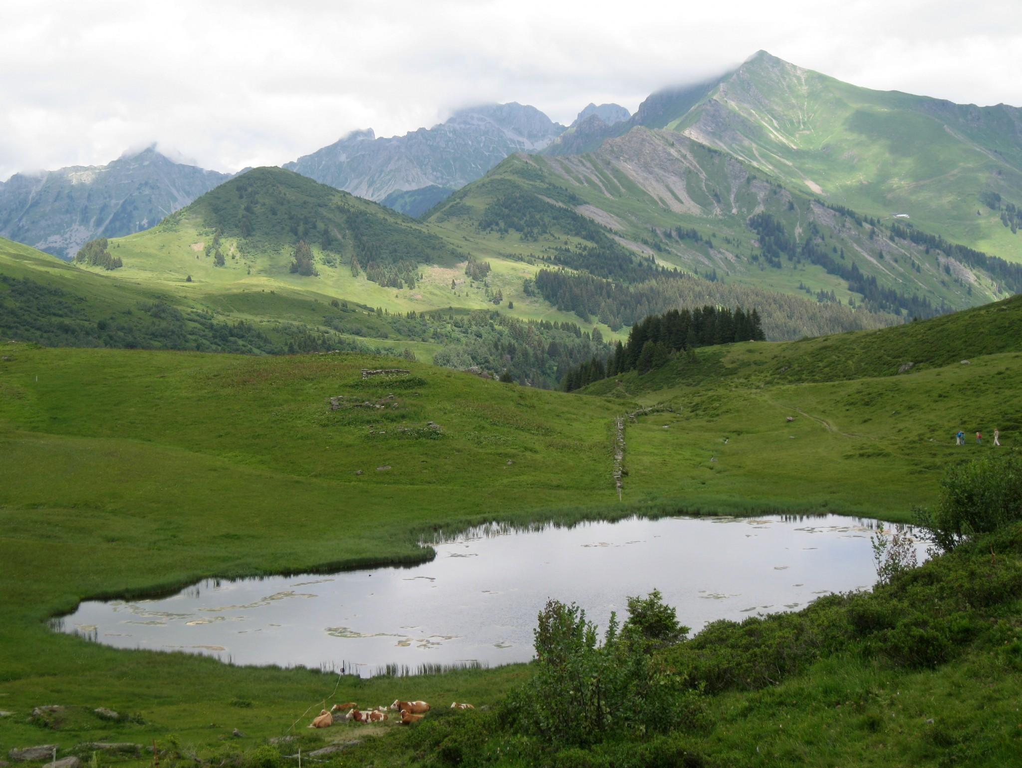 La Palette, Col des Andérets, Lac Retaud
